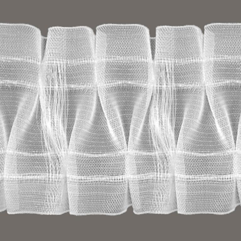 5m smokfalte volltransparent mit steg h 10cm meterware ebay. Black Bedroom Furniture Sets. Home Design Ideas