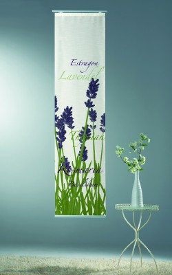 schiebe fl chenvorhang lavendel 43 x 180cm mit technik ebay. Black Bedroom Furniture Sets. Home Design Ideas