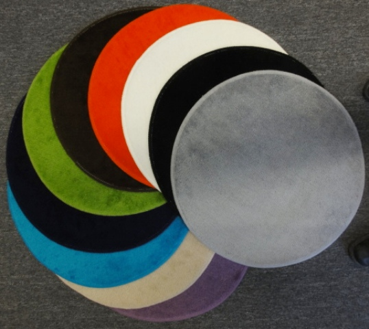 badteppich programm point 60cm rund in 2 restfarben zum sonderpreis ebay. Black Bedroom Furniture Sets. Home Design Ideas