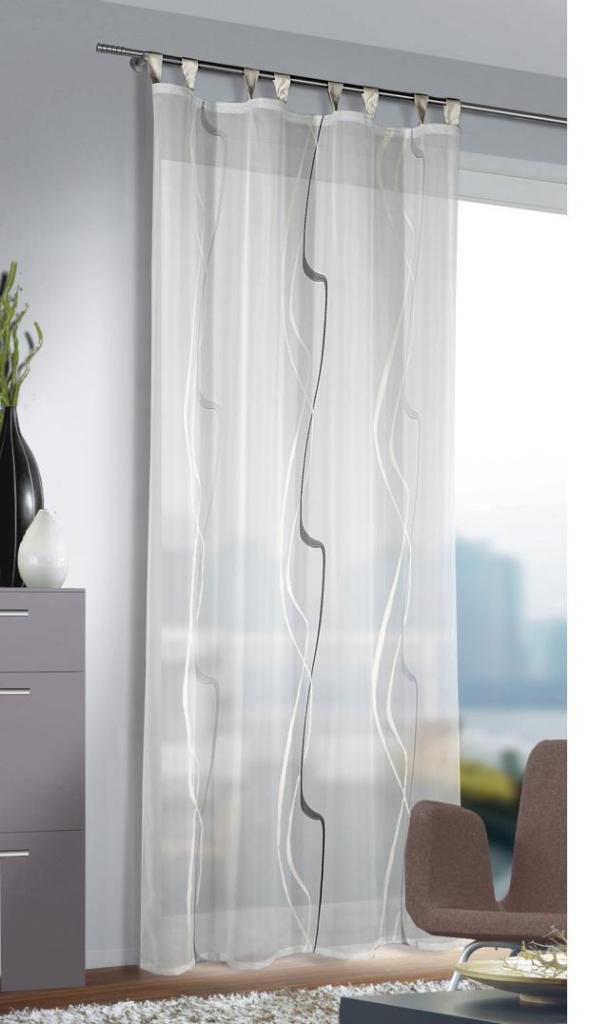 fl chenvorhang schlaufenschal amelie transparent in 2. Black Bedroom Furniture Sets. Home Design Ideas
