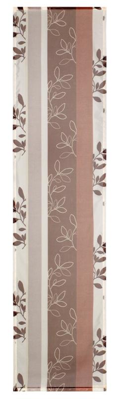 fl chenvorhang schlaufenschal gardone transparent in farbe braun ebay. Black Bedroom Furniture Sets. Home Design Ideas