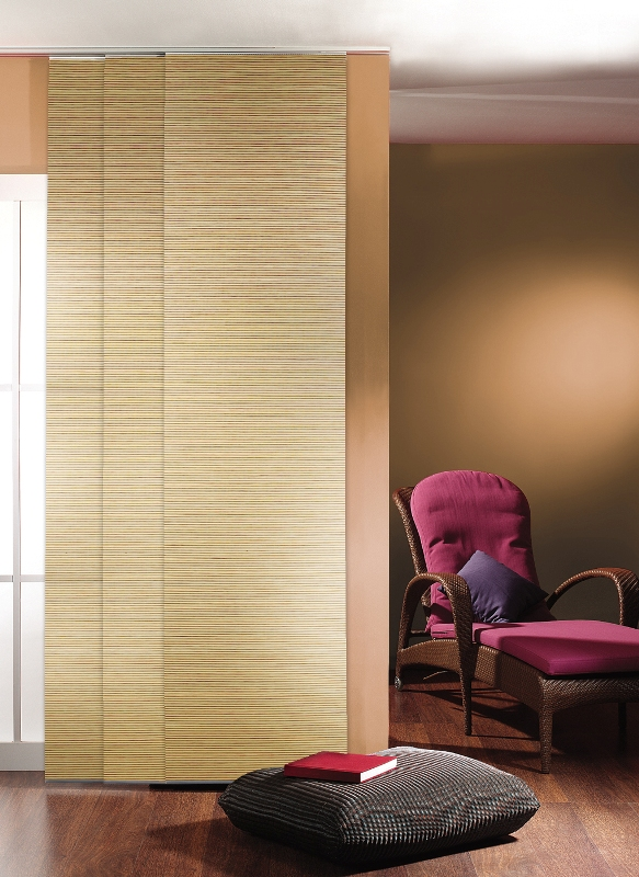 Schiebevorhang lexa blickdicht naturgewebe b 60 x h for Bambus schiebevorhang